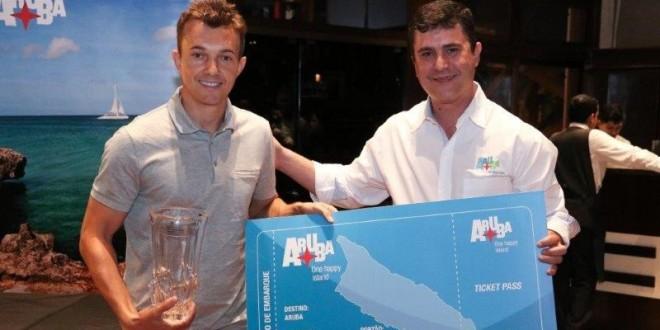 43 Dagoberto Pelentier e Adriano Saores representante de Aruba no Brasil