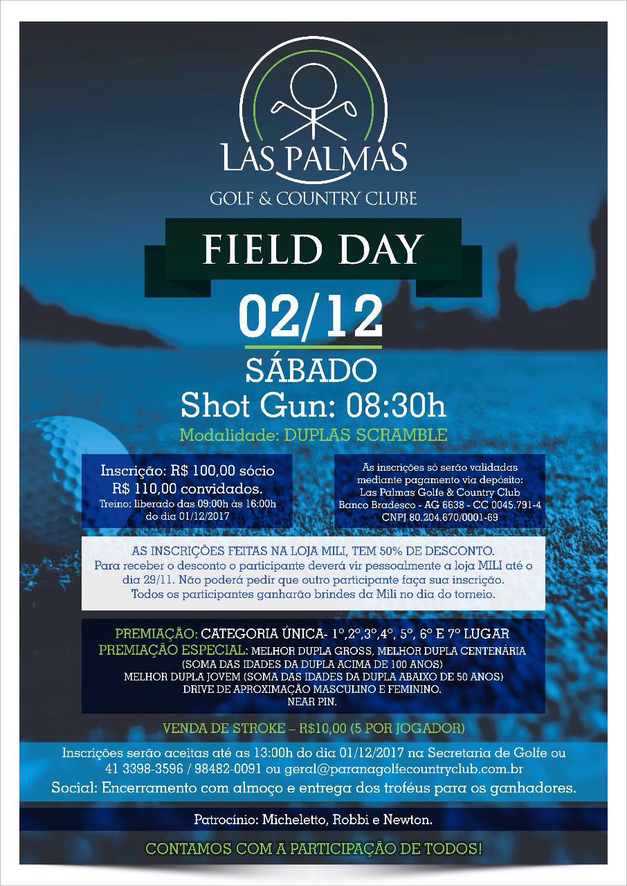 cartaz field day